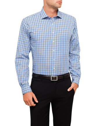 European Fit Two Tone Check Shirt