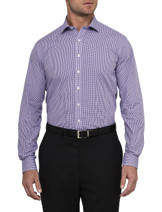 European Fit Small Grid Check Shirt