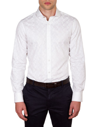 HIGH ST SUBTLE TIGER PRINT SLIM FIT SHIRT