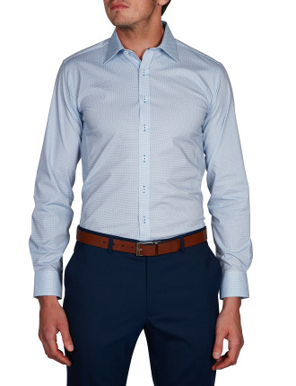 SILVERTON STRETCH PRINT BODY FIT SHIRT