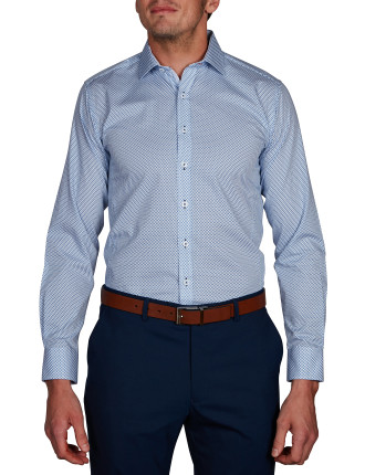 MOUNT MATRIX PRINT BODY FIT SHIRT
