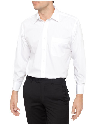 Self Stripe French Collar Shirt