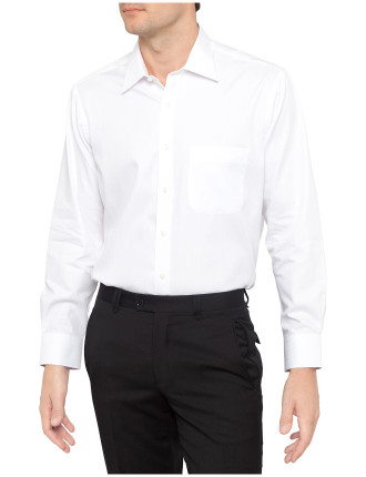 Herringbone Classic Fit Business Shirt - Variable Sleeve Lengths