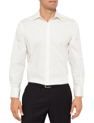 Textured Self Stripe Euro Fit Shirt