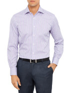 Slim Fit Large Check Business Shirt $59.97