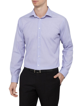 Slim Fit Solid Business Shirt