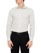Slim Fit Textured Plain Business Shirt $50.00