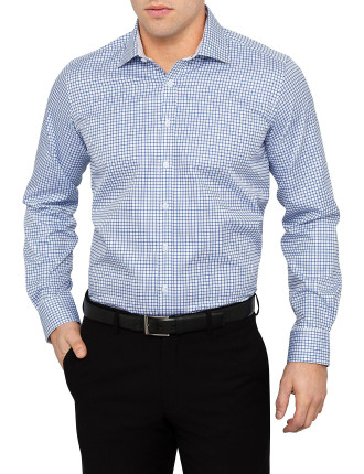 Commorant Check Shirt Regular Fit Single Cuff