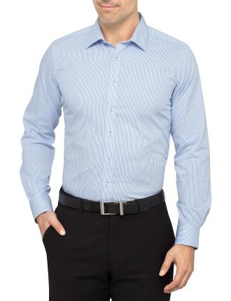 Deblasio Stripe Slim Fit Single Cuff