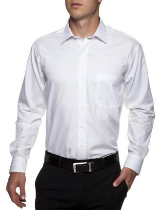 Sapodilla Self Stripe Shirt Regular Fit Single Cuff
