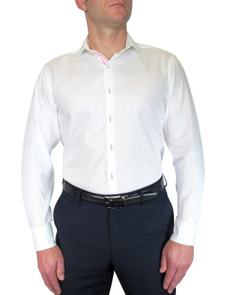 Shirt W/Contrast Ribbon Trim