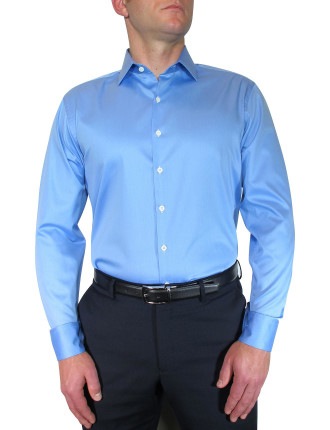 Twill Shirt W/Contrast Button Holes