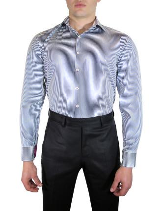 Sateen Stripe W/Contrast Fabric Tirm
