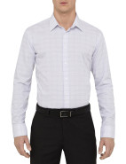 Grid Check Double Cuff Slim Fit Shirt $89.95