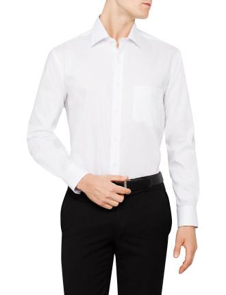 Textured Plain Classic Fit single cuff Shirt