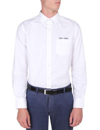 Triangle Dobby Shirt W/Pocket Detail