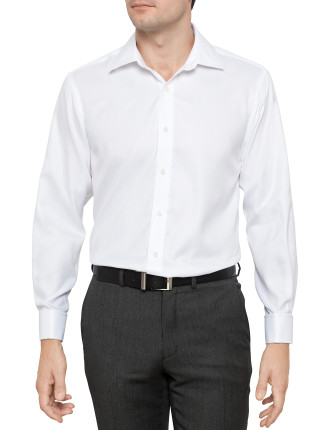 Herringbone Stripe Contemporary Fit Business Shirt