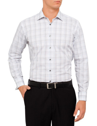Large Grid Check Business Shirt