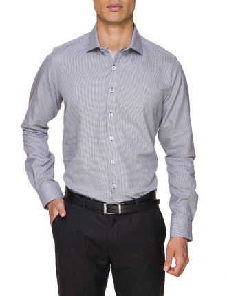 Wyoming Melange Tooth Check Shirt