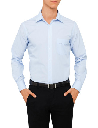 Van Heusen Classic Fit Long Sleve Blue Stripe Shirt