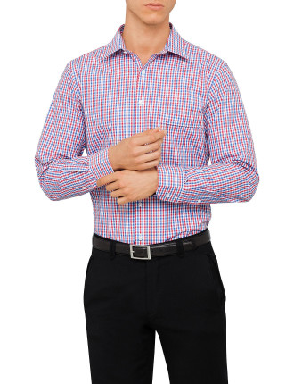Van Heusen Classic Fit Long Sleve Red Check Shit