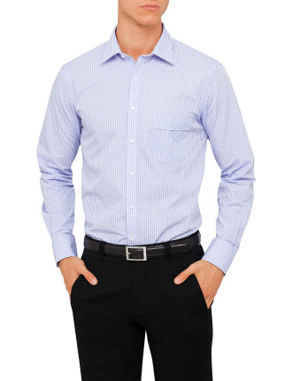 Van Heusen Classic Fit Long Sleve Lilac Check Shirt