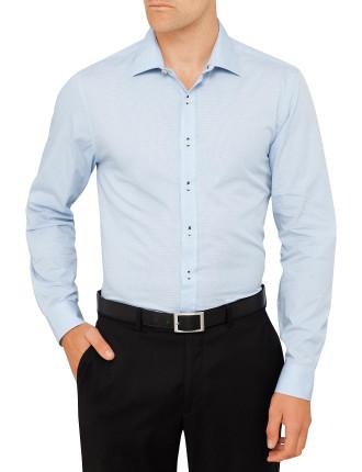 Micro Check Kings Slim Fit  Shirt