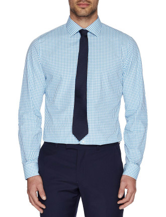Two Toned Check Kings Slim Fit Shirt