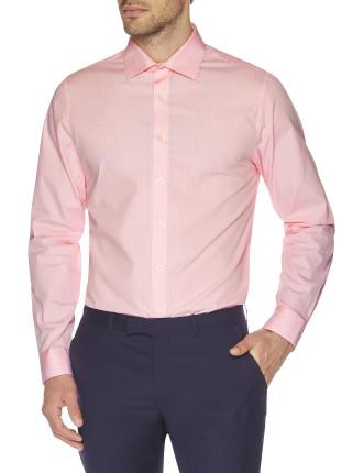Textured Sateen Check Kings Slim Fit Shirt