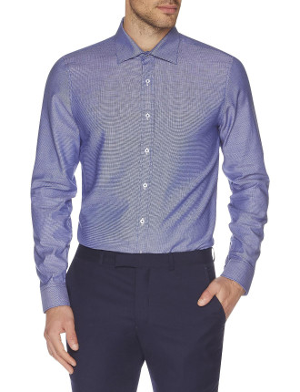 Two Toned Textured Kings Slim Fit Shirt