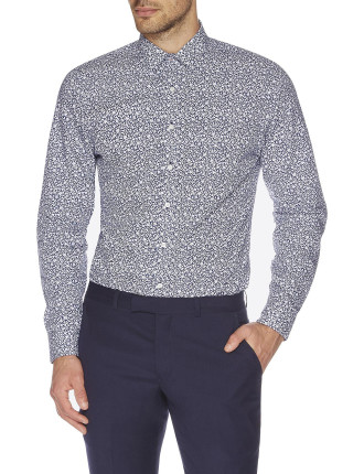 Ditsy Daisy Floral Camden Super Slim Fit Shirt