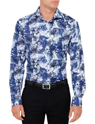 Floral Print Shirt Slim Fit