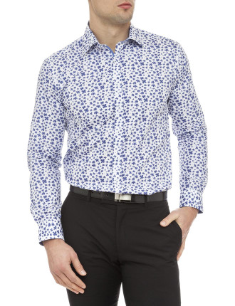 Ink Blot Floral Super Slim Fit Shirt