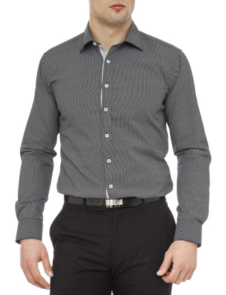 Fly Screen Mesh Print Super Slim Fit Shirt
