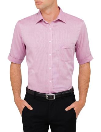 Short Sleeve Nailhead Shirt