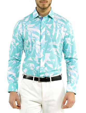 Abstract Palm Print Shirt