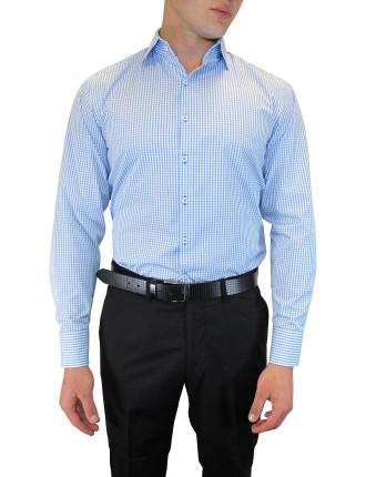 Self Check Shirt with Ribbon Trim
