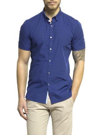 Short Sleeve Spot Print Shirt