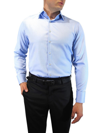 Dobby Textured Weave Slim Fit Shirt