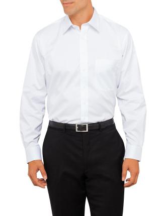 Fine Twill Single Cuff Non Iron Shirt Regular Fit