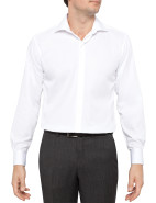 Fine Twill Fitted Non Iron Shirt $89.95