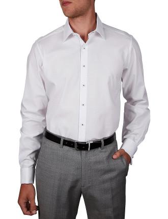 Coffee Bean Dobby Slim Fit Shirt