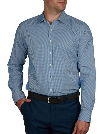 Harlem Micro Check Body Fit Shirt