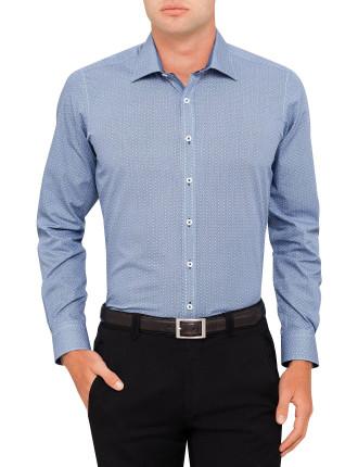 Union Square Spot Print Slim Fit Shirt