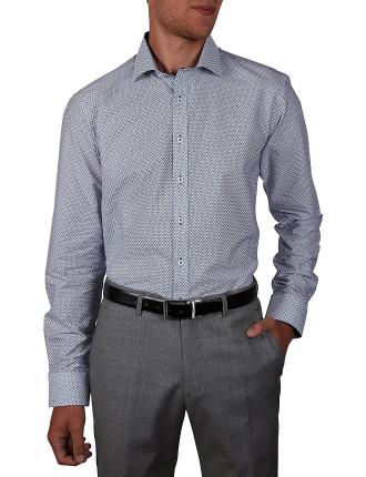 Micro Paisley Print Slim Fit Shirt