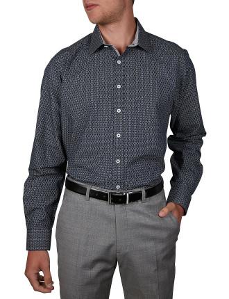 14th St Geo Print Slim Fit Shirt