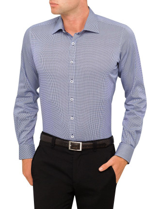 Times Square Stretch Tooth Body Fit Shirt