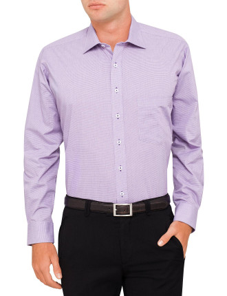 Nomad Micro Check Stretch Collar Regualar Fit Shirt