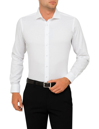 Da Vinci Semi Solid Slim Fit Shirt