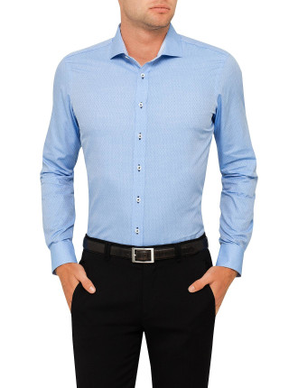 Sainte - Maure Spot Print Super Slim Fit Shirt